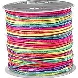 Macramé-Kordel (1mm, 28m, mehrfarbig Neon