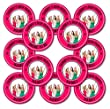 Set of 12 Personalised Your Photo Hen Party Pin Badges - 50mm