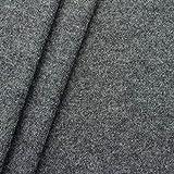 100% Wolle Walkloden Stoff Meterware Mittel-Grau