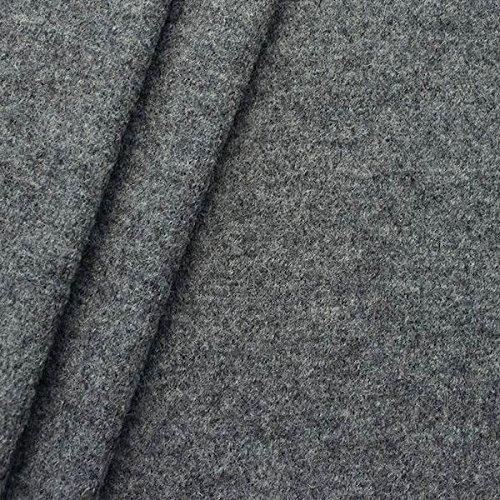 100% Wolle Walkloden Stoff Meterware Mittel-Grau (Wolle Stoff Jacke Mantel)