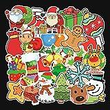 ANRUX 101 PCS/Lot de stickers de Noël pour ordinateur de voiture, moto, skateboard, ordinateur portable 5 Packs