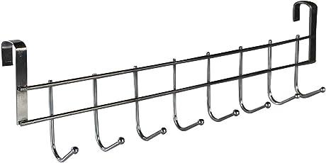 Kurtzy Stainless Steel Nail-free Door Hanger Holder for Clothes Utensils for Kitchen Bathroom Bedroom
