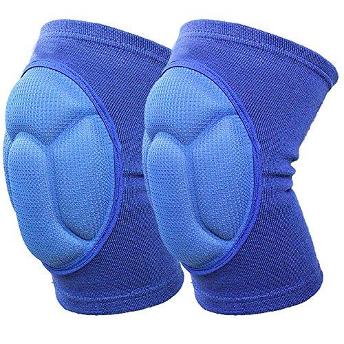 Ueasy rafforzare Ginocchiere e traspirante, ginocchiere e Crashproof gamba ginocchio Manica protettiva antiscivolo, 1
