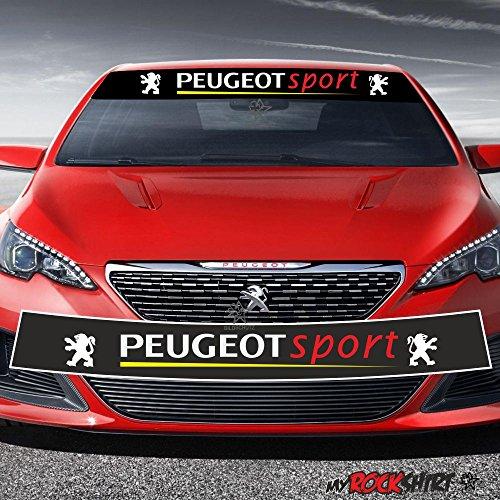 Motorsport Aufkleber Peugeot Sport Mit Unterstrich Typ 4 Racingblendstreifen 130cm Logo Aufkleber Keilsonnenschutz Rennstreifen