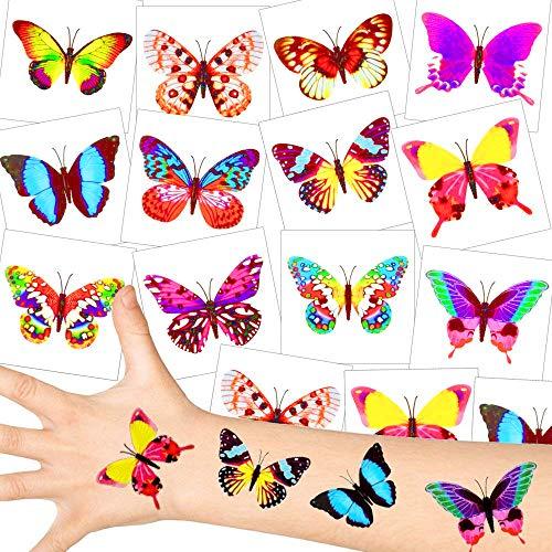 - Schmetterling Tattoos - Set ┃ NEU ┃ Party Tattoos ┃ Kindergeburtstag ┃ Mitgebsel ┃72 Tattoos ()