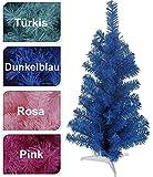Tannenbaum 60 cm Weihnachtsbaum Christbaum Kunststoff 60cm pink rosa blau türkis (Dunkelblau)