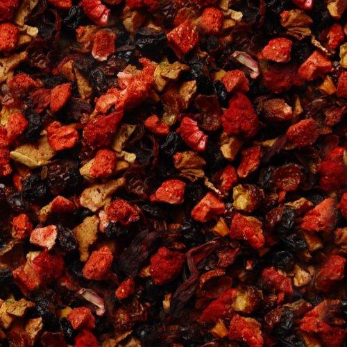 Früchtetee lose Sylter Wildbeeren Hagebutten, Johannisbeeren, Apfel, Koriander, Hibiskus, Holunder, Rote-Bete, Erdbeer, Heidelbeeren Früchte Tee Erdbeer- Johannisbeere 500g