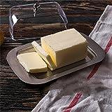 Burriera Burriera coperto per pane piatto da dessert vassoio stile europeo in acciaio INOX rettangolo burro western Cuisine formaggio piastra