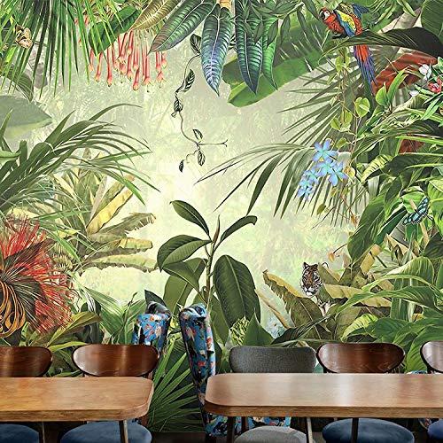 BBINGW Wallpaper Fototapeten Benutzerdefinierte 3D Tapete Tapete Tapete Tropischen Regenwald Pflanze Banane Hintergrund Tapete Home Dekoration,250 * 175Cm(Wxh) -