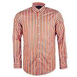 Ralph Lauren lässiges gestreiftes Langarm-Hemd für Herren (orange) S