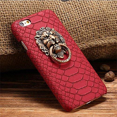 3D Stoßfest Handy Tasche Schutz Cover Case Kastenabdeckung für Iphone 6s Plus - Rot Rot