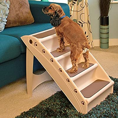 Lightweight Folding Dog Steps - Compact Stairs To Help Pets With Mobility For Cars, Sofas and Beds