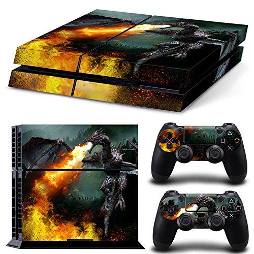 46 North Design Ps4 Playstation 4 Pegatinas De La Consola Dragon Fire + 2 Pegatinas Del Controlador 61ovPlO6KmL