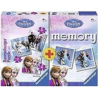 Ravensburger 22311 4 - Frozen Multipack, 3 Puzzle + 1 Memory