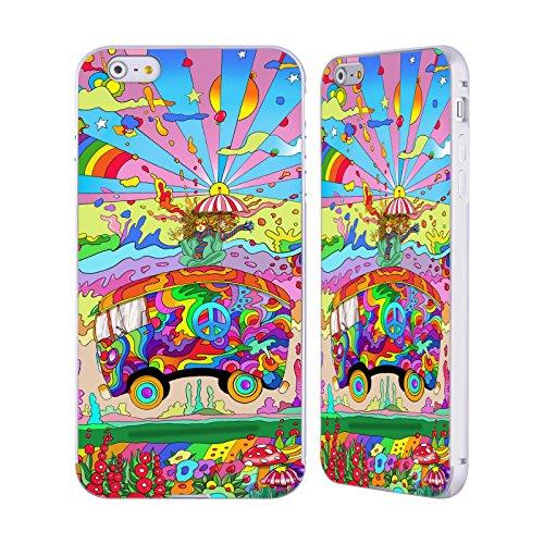 Ufficiale Howie Green Pirati Psichedelico Argento Cover Contorno con Bumper in Alluminio per Apple iPhone 5 / 5s / SE Bus Magico