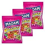 Haribo Maoam Frucht Kracher, 3er Set, Dragees, Kaubonbon, Im Beutel, Tüte, 600 g