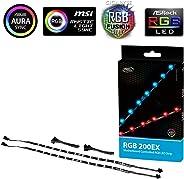 Deep cool rgb 200ex Yüksek Parlaklıklı Anakart Kontrollü Adresli RGB LED Şerit 12v dc