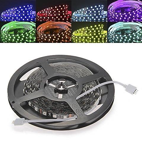 CroLED LED RGB Streifen Strips 5M 5050SMD Schwarz-PCB 300 LED / 5 Meter Lichtleiste
