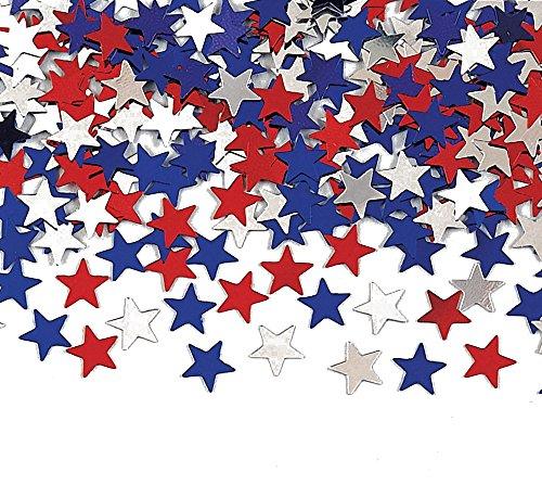 Metallic star Konfetti, Rot, Weiß und Blau (Vierten Juli-zubehör)