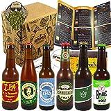 Pack découverte 6 bières IPA artisanales de France et du Monde - blondes - 33 cl
