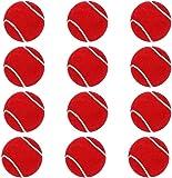 Steller Tennis Rubber Ball for Cricket, Light Weight - Pack of 12 ( Red )