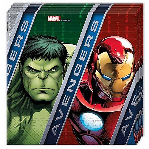 20 Avengers Papier Servietten (Captain America-einladungen)