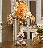 MENA HOME- Schlafzimmer Nachttischlampe Wohnzimmer im europäischen Stil Garten Vintage amerikanische Studie Lampe ( Farbe : Gold )