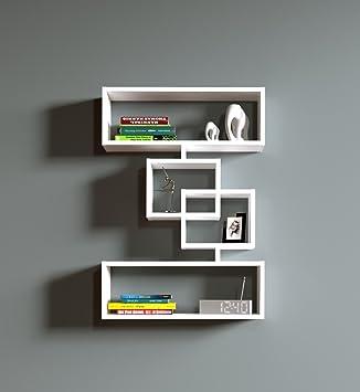 Wandregal modernes design  Wandregal Harmony - Weiß - Bücherregal Hängeregal Dekoregal für ...