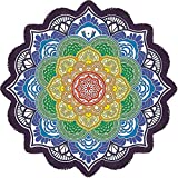 Rund Mandala Strandtücher Runde Boho Indian Zigeuner Hippie Stil Strandtuch mit Lotus Design Tapestry Yoga Picknick Decke Böhmischen Schal Tablecloth 160CM (63