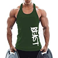 TX Apparel Men's Gym Cotton Tank Tops Beast Muscle Stringer Vest