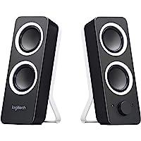Logitech Z200 2.0 Lautsprecher mit Subwoofer, Surround Sound, 10 Watt Spitzenleistung, 2x 3,5 mm Eingänge, Lautstärke…