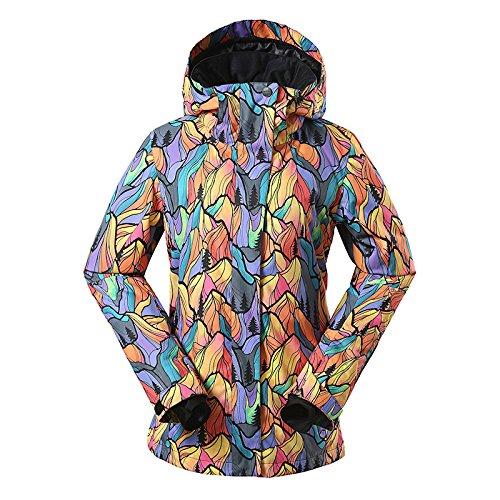 HUA&X Damen Mantel Winter Ski Jacke wasserdicht Winddicht warmen Reißverschluss verdickt, 1507-032, XS