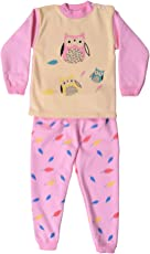 ICABLE Baby Girl Baby Boys Kids High Quality Winter Wear Regular Comfort Fit Full Sleeves Cotton Polyester Blend Night Suit with Inner Fur