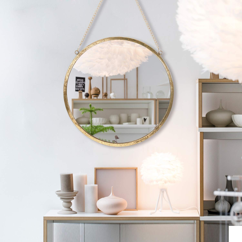 Rumcent Specchio Rotondo da Parete, Moderno Specchio con Cornice in  Metallo, Specchio Decorativo da Appendere per Camera da Letto, Bagno e  Soggiorno, ...