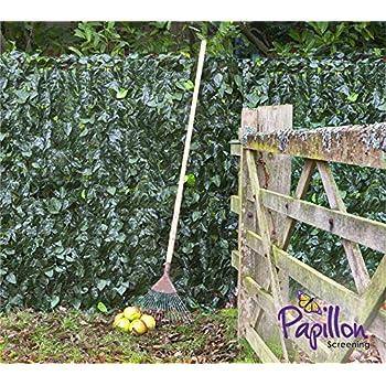 dépistage de feuilles de lierre artificielle haie 3m x 1m (2,7m 25,4cm X 0,9m 7,6cm) Clôture Plastique de confidentialité Jardin écran Rouleaux en papillon
