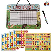 Wipeable Reward Star Chart for Children Behaviour and Over 300 Reward Stickers Chores Star Chart for Children Potty Training by Ladybirds