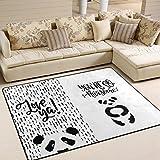 ingbags Super Weich Moderner Panda, ein Wohnzimmer Teppiche Teppich Schlafzimmer Teppich für Kinder Play massiv Home Decorator Boden Teppich und Teppiche 160x 121,9cm, multi, 80 x 58 Inch