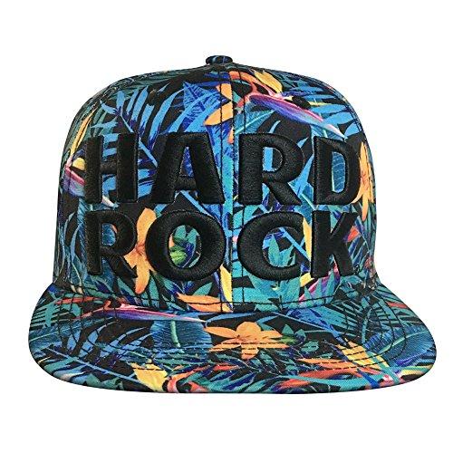 """ACTIVE Cappelli di Snapback di Hip-Hop regolabile Bboy cappelli di baseball Cap con """"HARD ROCK"""" Y68009D"""