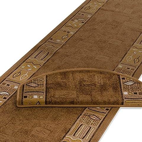 casa pura® Non-slip Carpet Floor Runner, Rio - Beige | Over 50 Sizes | Matching Stair Treads Avail. (80 x 200