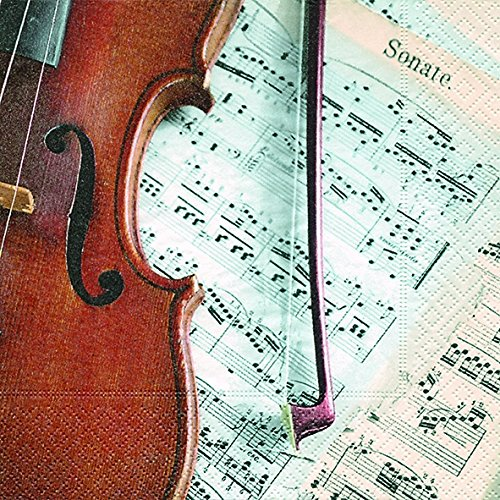 onate Geige Violine 33x33 cm, 3-lagig, 1/4 gefaltet auf 16,5x16,5 cm ()