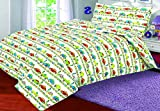 Love2Sleep COT Bed Duvet Cover with Pillowcase- Superior Natural Cotton Rich 120 X 150 cm - Cars and Bikes