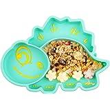 Piatto per bambini in silicone, Tappetini Antiscivolo con forte aspirazione adatta FDA e BPA Portatile per seggiolone e viagg