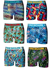 Lot 6 Boxers Homme Freegun FG31