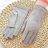 LDDENDP Finger Gloves metà schermo di tocco di guida antiscivolo guanti di cotone Sudare-assorbente e traspirante che guida i guanti di protezione UV signore Outdoor Sport Tempo Guanti antiscivolo Tou