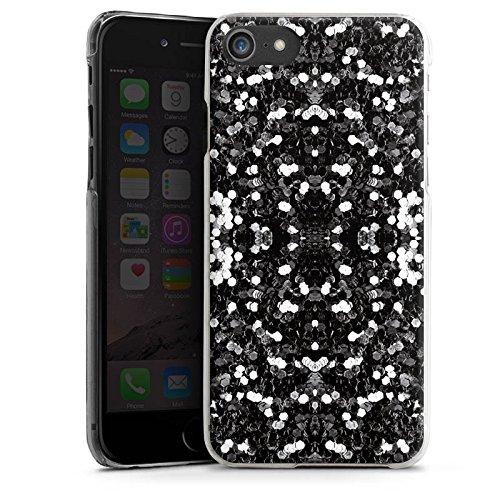 Apple iPhone X Silikon Hülle Case Schutzhülle Glitzer Silber Muster Hard Case transparent