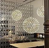 Pendelleuchte LED Metall Hängeleuchte Kugel Höhenverstellbar Wohnzimmer Restaurant Warmweiß (Durchmesser 40cm)
