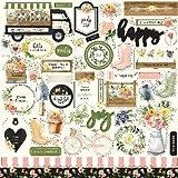 Spring Market Cardstock Stickers 12X12-Elements