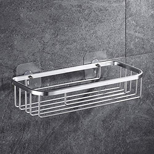 Generic Lange Aluminium Badezimmer Regal Halter Bad Veranstalter hochwertige Raumdusche Shampoo Seife kosmetische Regale-Silber A Lange