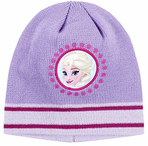 6bf6e37182c Bonnet enfant fille La reine des neiges Elsa Violet de 3 à 9ans (52 (