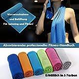 Koopower Fitness Handtuch & Mikrofaser Kaltes Handtücher, Stark saugfähig, Antibakteriell und Schnell Trocknend, Schnell Kühlend mit Wasser, Geeignet für Fitness.